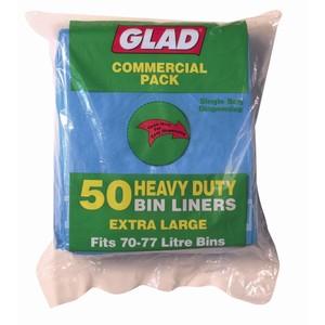 """""""GLAD"""" Bin Liner 70-75L Blue 20um"""