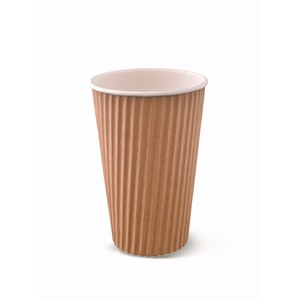 Ripple Wrap Hot Cup 16oz Brown