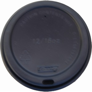 Lid Black Suits 12-16oz Hot Cups
