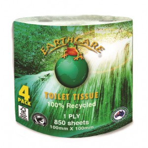 "EC8504 ""EarthCare"" 1ply Toilet Roll's"