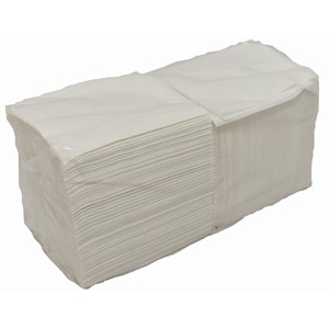 """ABC"" 1ply Lunch Serviette White"