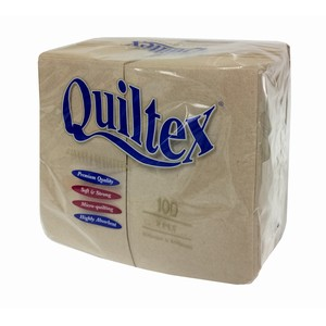 """Quiltex"" 2ply Natural Dinner Serviette Prefold"