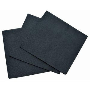"""ABC"" 2ply Cocktail Serviette Black"