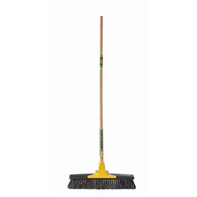 Broom & Handle 450mm Med/Stiff w/scraper