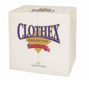 """Clothex"" 2ply GT Fold Dinner Serviette"