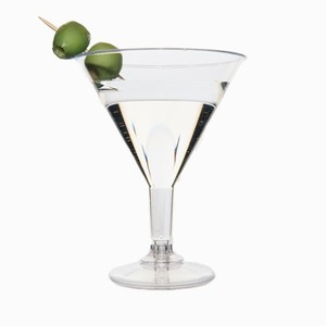 Romax 220ml Cocktail Glass Silver 10x10's