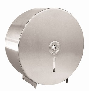 """ABC"" Single Stainless Steel Jumbo Toilet Roll Dispenser"