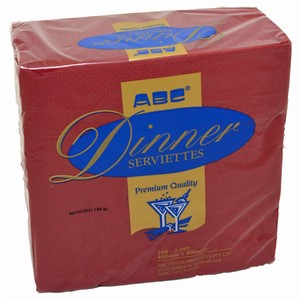 """ABC"" Premium 2ply Dinner Napkin"