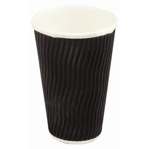 Hot Cup Wave Black 16oz, 500/ctn