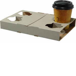 Four Cup Cardboard Drink Tray